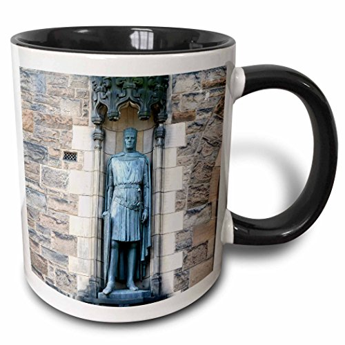 3dRose Scotland, Edinburgh, Edinburgh Castle Knight Statue Eu36 Mwr0063 Micah Wright Two Tone Black Mug, 11 oz, - Edinburgh Outlets