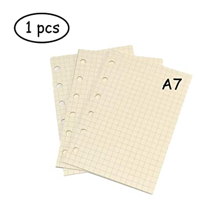 Standard Grids White Paper Style for Journals Notebooks Diaries Inserts 1 PCS 45 sheets//90pages Lvcky A7 6-Ring Binder Planner Refill Paper File Paper Loose-Leaf Notebooks Paper