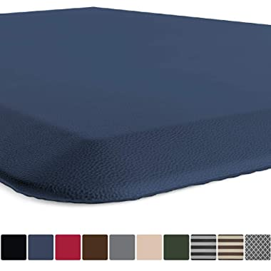 GORILLA GRIP Original 3/4  Premium Anti-Fatigue Comfort Mat, Phthalate Free, Ships Flat, Ergonomically Engineered, Extra Support and Thick, Kitchen and Office Standing Desk (32x20: Navy Blue)