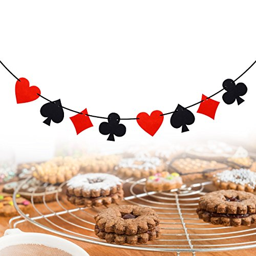 Vegas Themed Decorations - LUOEM Las Vegas Casino Banner Casino
