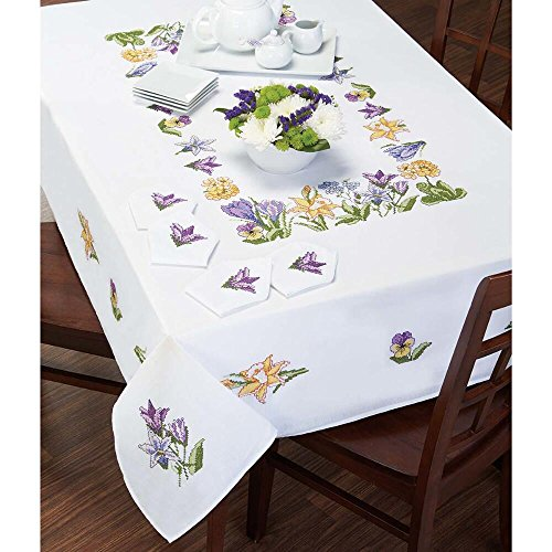 Craftways® Spring Glory Table Runner Stamped Cross-Stitch
