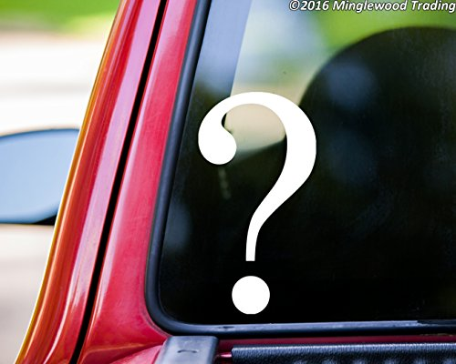 - Minglewood Trading Question Mark vinyl decal sticker 5.25