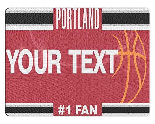 (BRGiftShop Personalized Custom Basketball Team Portland 11x15 Glass Cutting Board)
