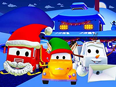 Tom The Tow Truck's Paint Shop : Frank the Firetruck is Santa Claus / Sam the Snowplow is a Snowman