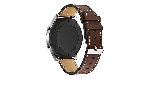Amazon.com: Jewh Leather Watch Bracelet Strap - Strap Band for Samsung Gear S3 - Samsung Leather Watch Band - Replacement Wristband for Samsung Gear S3 ...