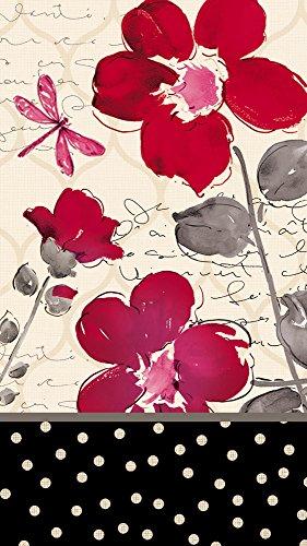 - Floral Symphony Paper Guest Towel