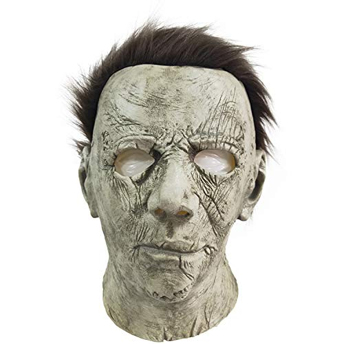 ZhangHD Horror Movie Michael Myers Halloween Mask Cosplay Props Adult Latex Full Head Mask (C)