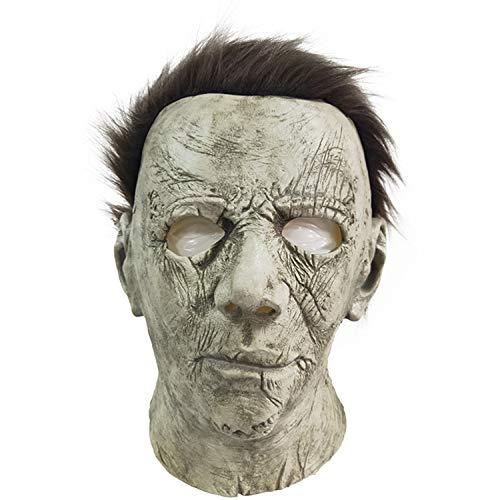 ZhangHD Horror Movie Michael Myers Halloween Mask Cosplay Props Adult Latex Full Head Mask (C) -