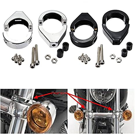 YONGYAO 41Mm Tourner Le Support du Signal De Montage du Tube De Fourche Indicateur De R/éadressage pour Harley-Chrome
