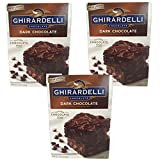 dark baking pans - Ghirardelli Chocolate Lovers Dark Chocolate Brownie Mix - Pack of 3, 20oz boxes