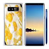 Luxlady Samsung Galaxy Note8 Clear case Soft TPU Rubber Silicone IMAGE ID 26137983 abstract preparation the fried eggs as element breakfast