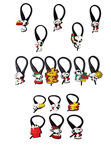AVIRGO 17 pcs Soft Zipper Pull Charms for Jacket Backpack Bag Pendant Set # 211 -3