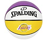 Spalding NBA Official 29.5' Full Size Rubber Indoor/Outdoor Basketball-LA Lakers
