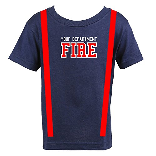 Firefighter Toddler Child Outfit Perfect Halloween Costume Shirt Only (3T)