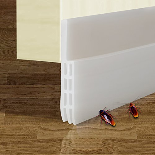 Weather Stripping Seal Sound Proof and Block Cold Hot Air Seal The Gap at The Bottom of Door 1.6 Width x 39 Length Door Draft Stopper 2 Pack