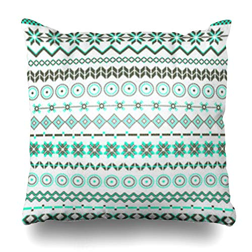 ArtsDecor Throw Pillow Covers Flame Brown Various Colored Models Geometric Folk Tribal Abstract Amber Artistic Borders Home Decor Cushion Square Size 20