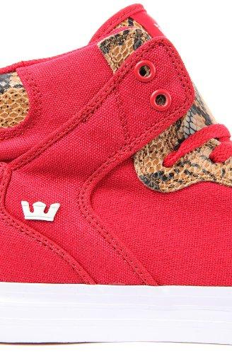 Supra - Zapatillas para hombre - Red / Snake Print/White