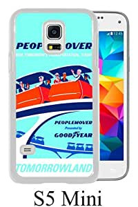 Disney Disneyland Vintage Poster White Personalized Photo Custom Samsung Galaxy S5 Mini Cover Case