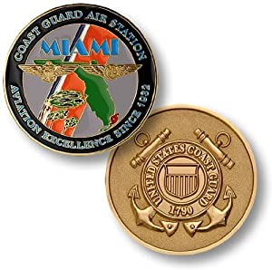 US Coast Guard Air Station Miami Challenge Coin