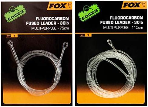 Karpfenmontage Karpfenvorfach Gr/ö/ße:10 FOX Fluorocarbon Fused Leader Kwik Change Swivel 115cm 30lbs Karpfenrig zum Angeln auf Karpfen