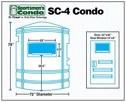 Amazon com : Sportsman's Condo SC4 72 in  diameter Deer