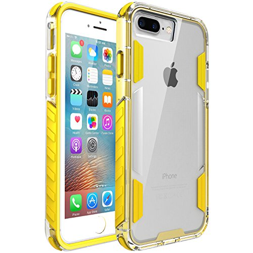 iPhone 8 Plus Case,iPhone 7 Plus Case,Zisure[Rock Sugar] Heavy Duty Crystal Solid Clear Case Durable Shatterproof Sports Cover for iPhone 8 Plus/iPhone 7 Plus 5.5 inch (Yellow)