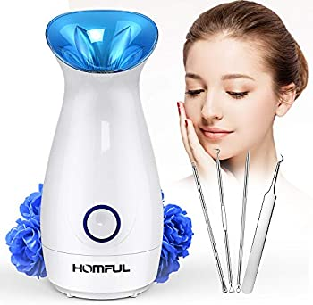 HOMFUL Upgraded Nano Ionic Facial Steamer Warm Mist Humidifier