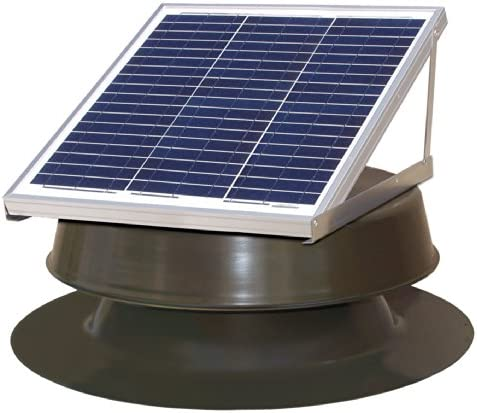 Natural Light Solar Attic Fan 36-watt Bronze