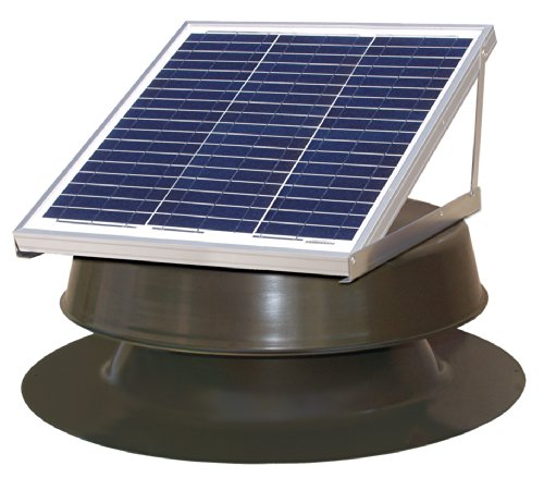 (Natural Light Solar Attic Fan 36-watt Bronze)
