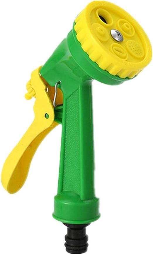 Pistola de agua para jardinería Pistola de agua Suministros de jardín Hogar con cinco funciones Rociador Rociador Adecuado for el jardín Riego Flor Enjuague Espera de enfriamiento del techo de vidrio: Amazon.es: