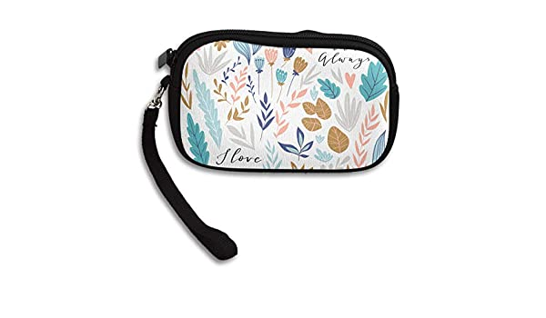 Beautiful Love Deluxe Printing Small Purse Portable Receiving Bag
