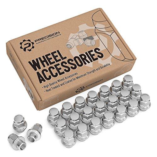24pc Silver Chrome Mag Style Lug Nuts - 12x1.25 Thread Size - 1.5