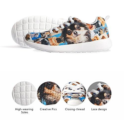 HUGS IDEA HUGSIDEA Pet Dog Print Kids Mesh Breathable Sneaker Fashion Running Shoes For Girls by HUGS IDEA (Image #5)