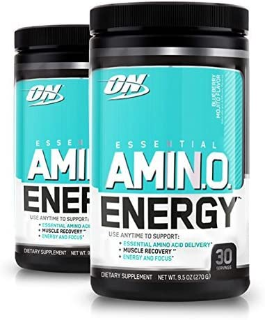 Optimum Nutrition Amino Energy, Blueberry Mojito 30 Servings Pack of 2