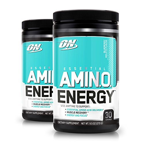 Optimum Nutrition Amino Energy 2 Pack, Blueberry Mojito, Preworkout and Essential Amino Acids with Green Tea and Green Coffee Extract, (30 Serv Each)