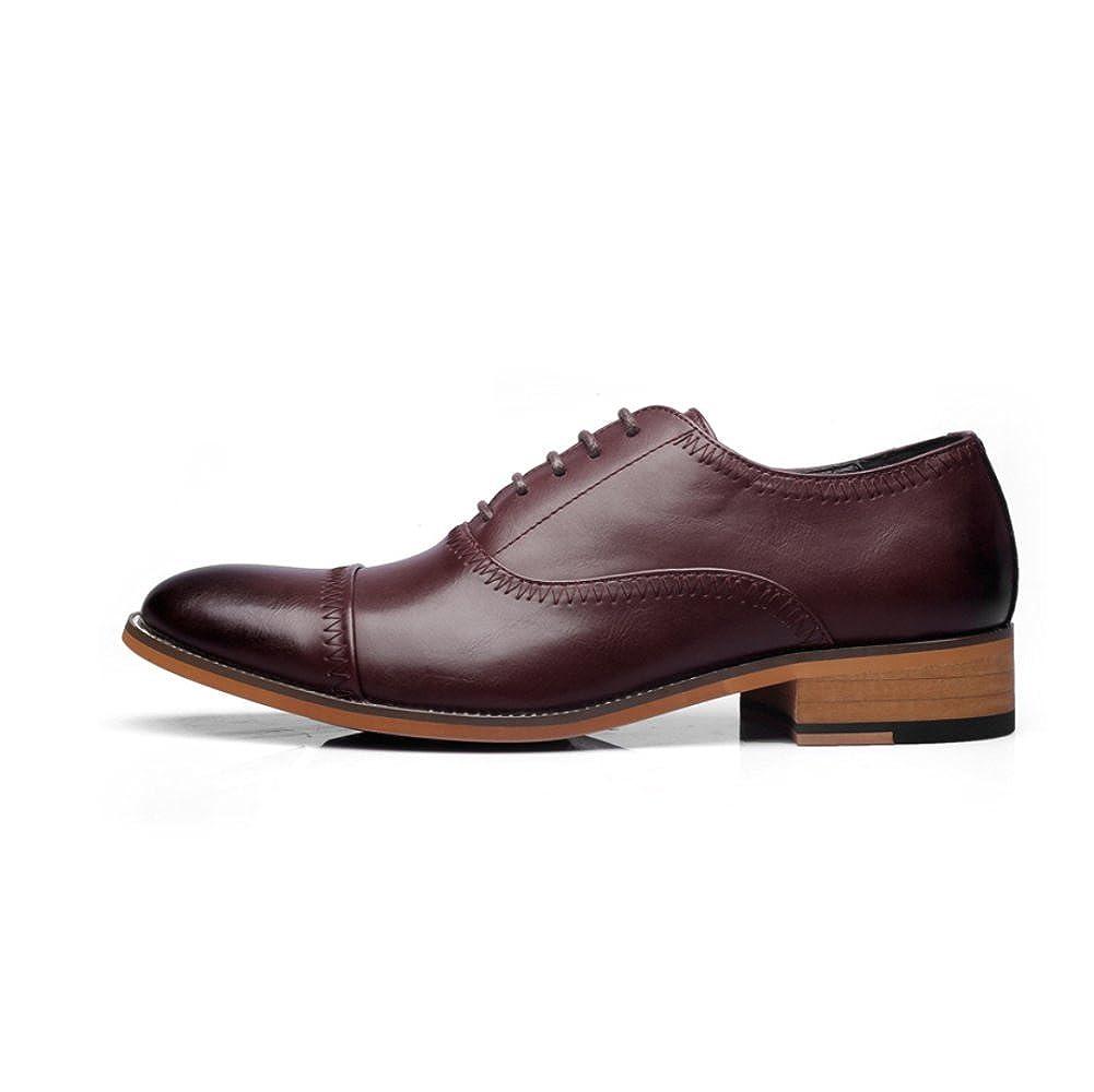 Frühlings-Mann-Geschäfts-Leder-Schuh-Steigung-Breathable Ochse Schnitzte Die Schuhe Schuhe der Männer Zufällige Schuhe Die ROT 99cdbb