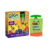 GoGo squeeZ Fruit & VeggieZ, Apple Sweet Potato Grape, 3.2 Ounce Portable BPA-Free Pouches, Gluten-Free, 4 Total Pouches