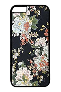 iPhone 6 Case, VUTTOO Personalized Protection Scratch Proof Hard PC Black Case Cover for New iPhone 6 4.7 Inch - Classical Flowers