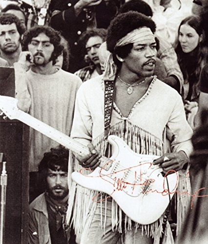Jimi Hendrix Signed Autographed 8 X 10 Reprint Photo – Mint Condition