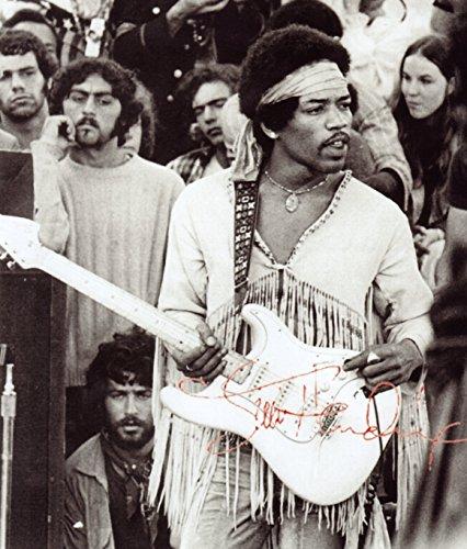 Jimi Hendrix Signed Autographed 8 X 10 Reprint Photo – Mint Condition