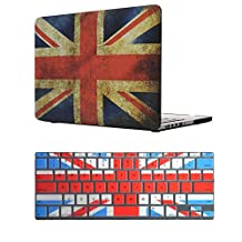 """IKASE ®AIR 13-inch Vintage Union Jack UK Great British Flag Soft-Touch Plastic Hard Case Cover for MacBook Air 13.3"""""""