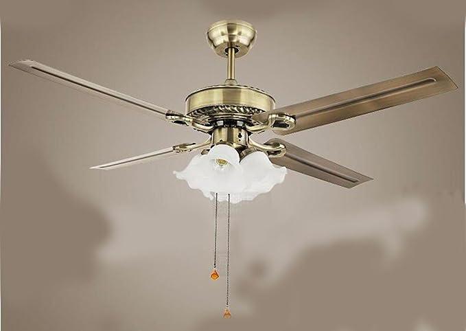Gzlight ventilatore da soffitto lampadario luci led home decor con