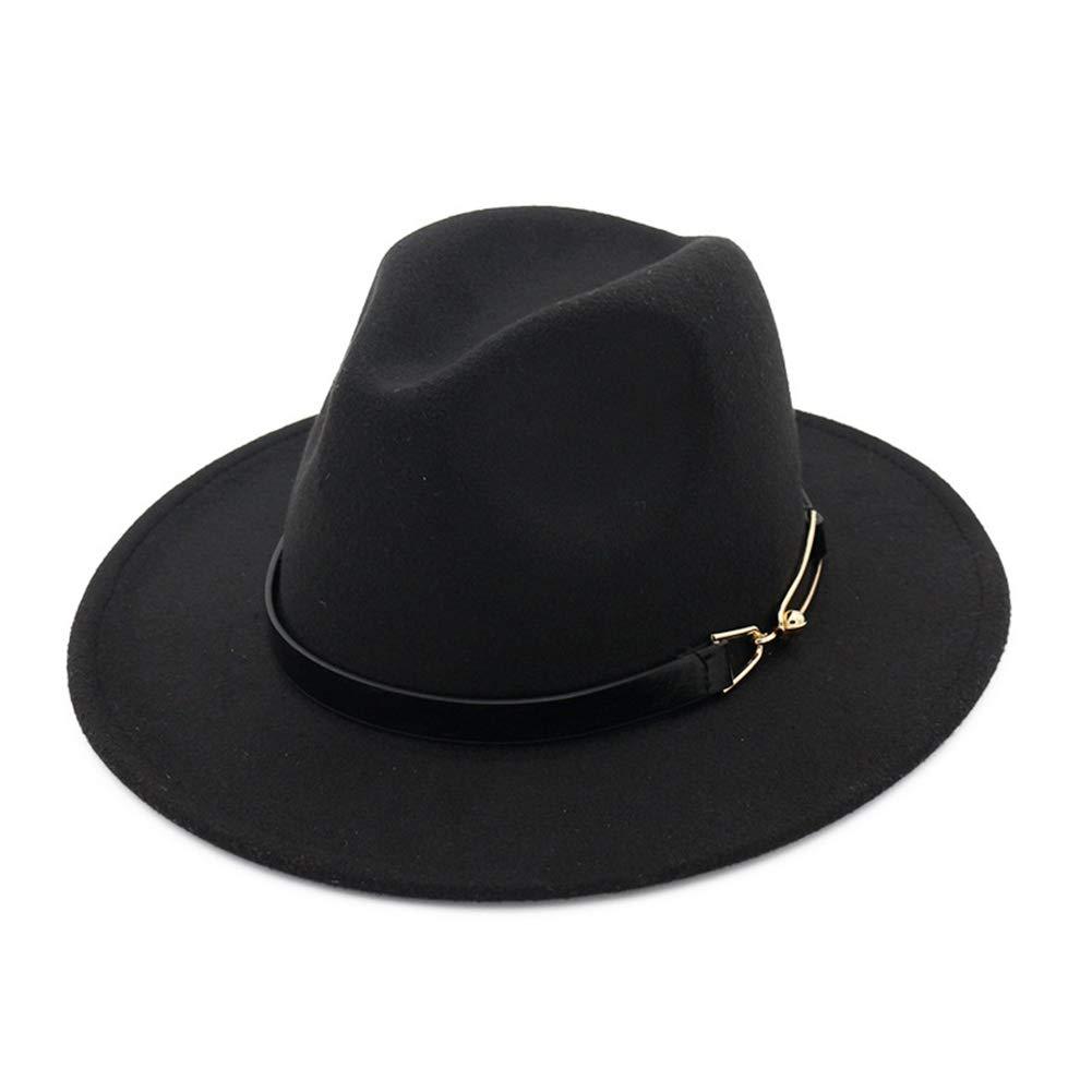 Womens Foldable Wide Brim Floppy Wool Fedora Hat Ribbon Band Trilby Hat