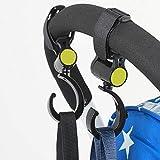 D&T Multi Purpose Baby Stroller Accessories Hook Car Carriage Storage Bag 2Pcs Set