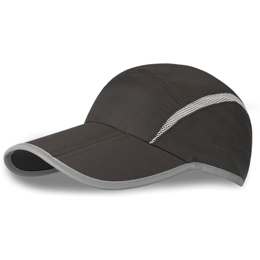 GADIEMENSS Quick Dry Sports Hat Lightweight Breathable Soft Outdoor Running  Cap (Folding series a561e0f93aa