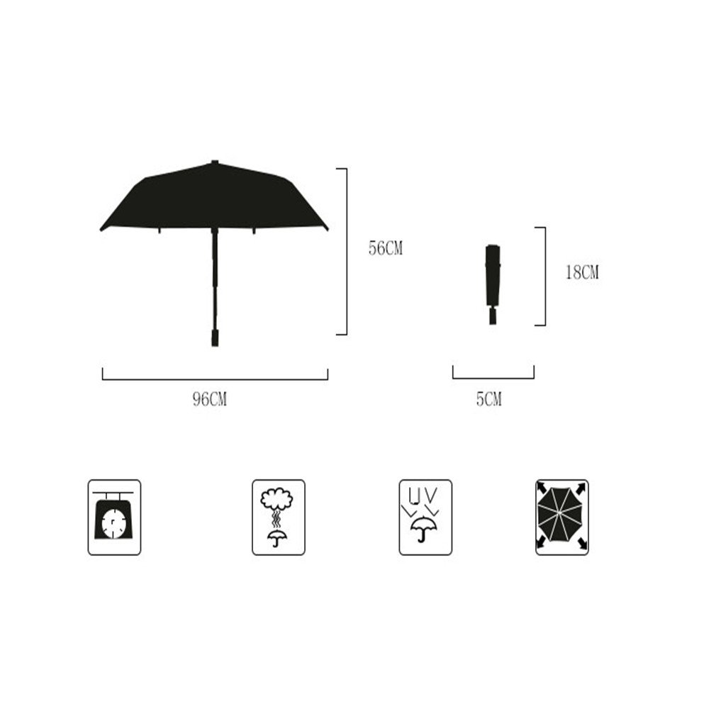 Guoke Compact Mini Vinyl Umbrellas Sunscreen Anti-Uv Light Pocket Fold Umbrella Of Fine White - Flower by Guoke (Image #2)