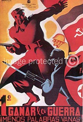 AGS - Ganar la Guerra Vintage Spanish Civil War Military Propaganda Poster - 24x36