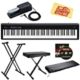 #10: Roland FP-30 Digital Piano - Black Bundle with Roland DP-10 Damper Pedal, Adjustable Stand, Bench, Dust Cover, Austin Bazaar Instructional DVD, and Polishing Cloth