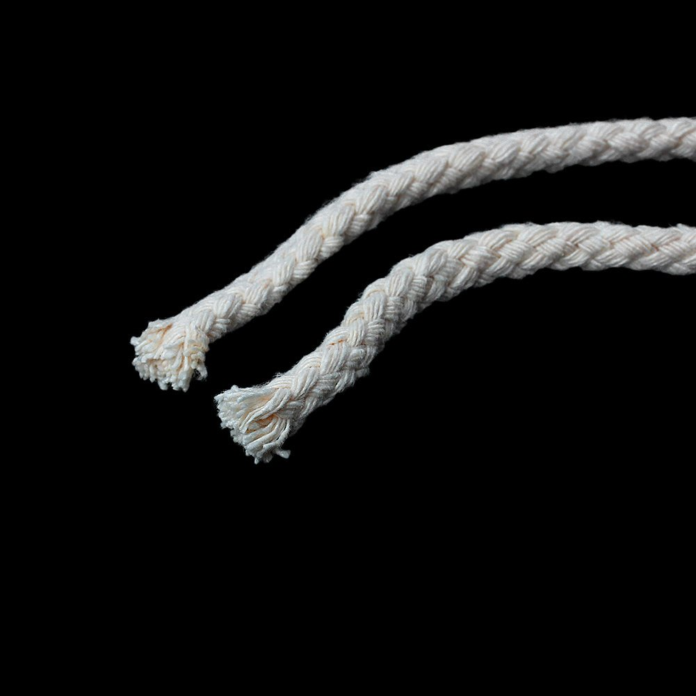 Sadingo Cotton Cord Macrame Yarn 8mm White Cream Cord Braided Cotton Cord 10 Metres