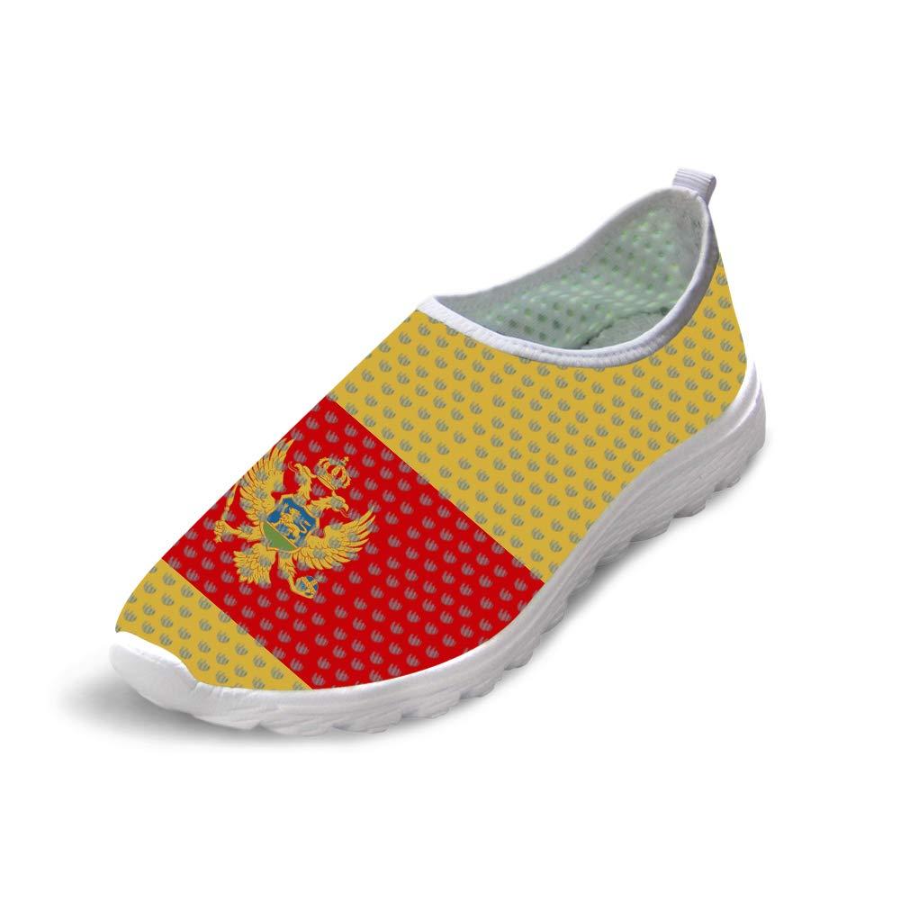 Owaheson Trail Runner Running Shoe Casual Sneakers Montenegro Flag